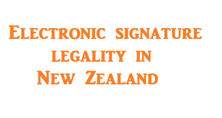 electronic signatures in new zealand