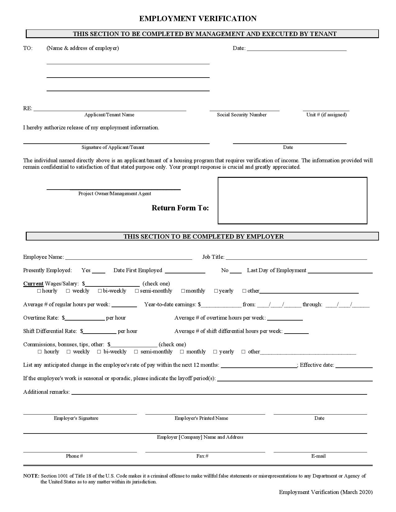 emp verification form-page