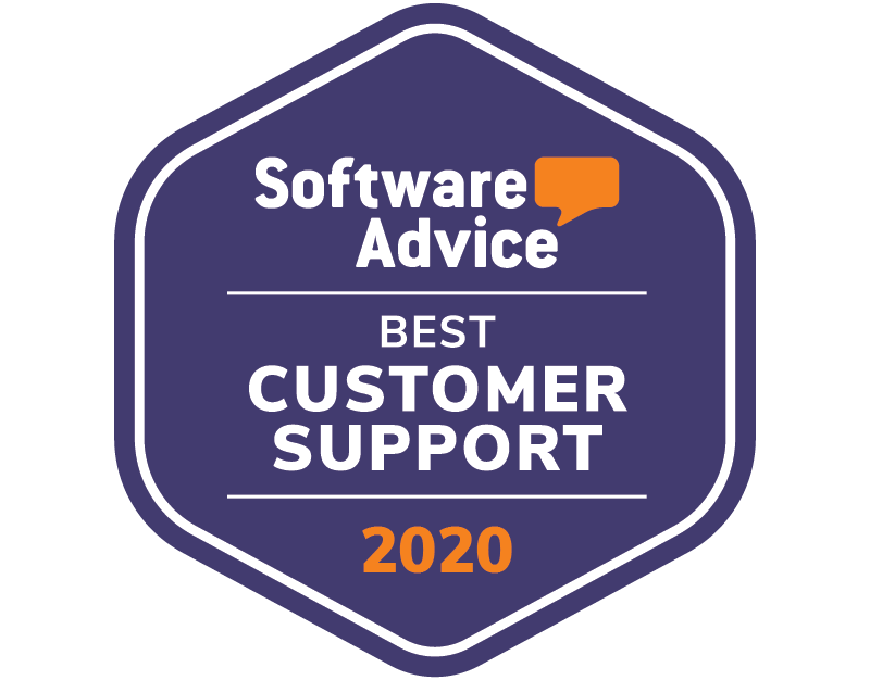 Badge awarding eSign Genie with Software Advice Best Customer Support for 2020