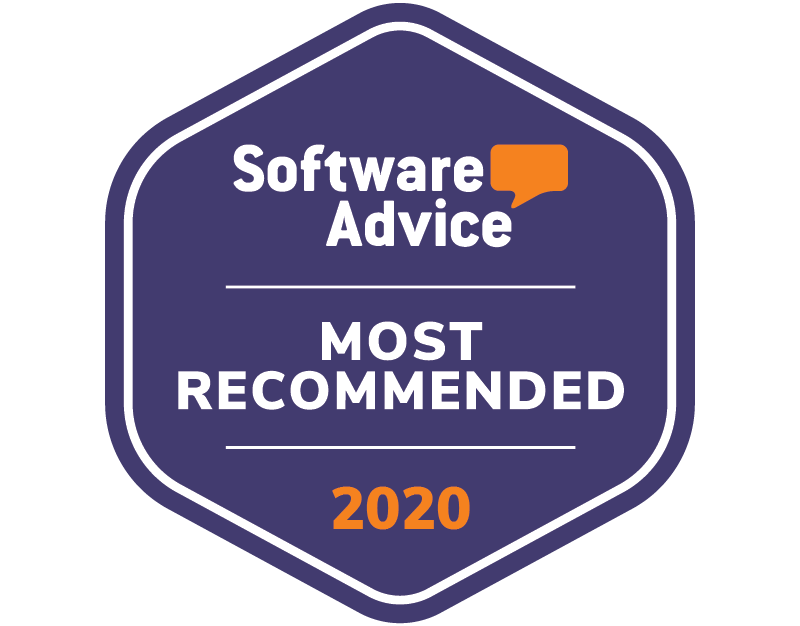 Badge awarding eSign Genie with Software Advice Most Recommended for 2020