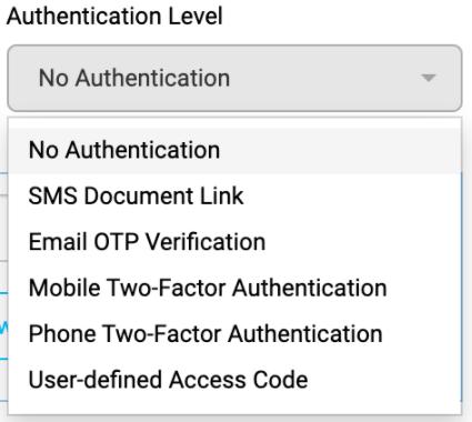 Authentication-level